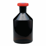 Amber Glass Reagent Bottle - Academy (Red Plastic Stopper) 250ml