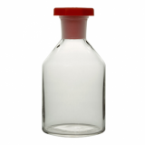 Clear Glass Reagent Bottle - Academy (Red Plastic Stopper) 100ml
