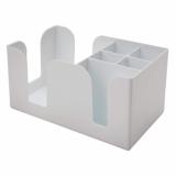 Bar Napkin Caddy - 6-Compartment (White)