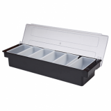 Condiment Holder (6 Compartment) Black Plastic - OFFER PRICE