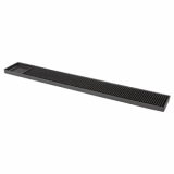 Black Rubber Bar Mat (610mm x 80mm)