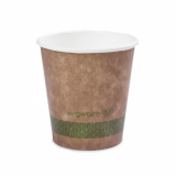 Bio Compostable Brown Single Wall Hot CUPS 10oz (89mm Rim) Pk of 50