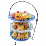 Cake Stand 3-Tier Chrome Wire (24cm Plates and Cake NOT Included)