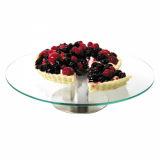 Cake Stand - Clear Glass Revolving