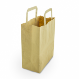 Recycled Brown Paper Carrier Bags - Small (Pack of 25)