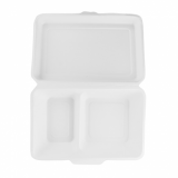 Bio Compostable Clamshell - 2 Compartment (Pack of 50)