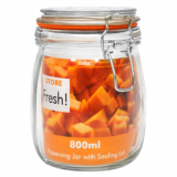 Cliptop Glass Preserving Jar - 140mm (800ml)