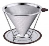 Stainless Steel Coffee Dripper Filter With Stand