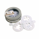 Eddingtons - Coffee Stencils Gift Tin (Includes 16 stencils)