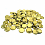 Metal Crown 26mm Bottle Caps - GOLD (Pack of 10)