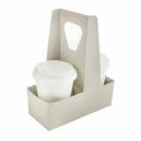 Compostable 2 Cup Carriers with Handle (Pack of 10)