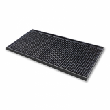 Deluxe Black Rubber Mini Bar Mat (15cm x 30cm)