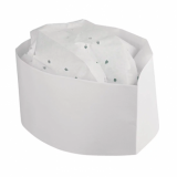Disposable Forage Hat White (Pack of 100)