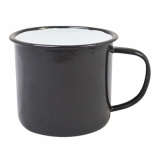 Enamel Mug - BLACK (18oz/520ml) LARGE