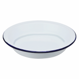 Enamel DEEP Round Plate (210mm) - BLUE Rim