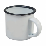 Enamel Espresso Mini Cup (100ml) - GREY Rim