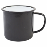 Enamel Mug - BLACK (13oz/360ml) Medium