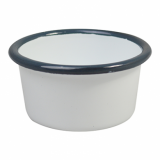 Enamel Ramekin (90mm) - GREY Rim