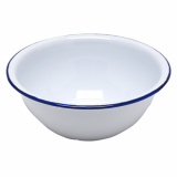 Enamel Round Bowl (158mm) - BLUE Rim