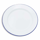 Enamel Round Plate (250mm) - BLUE Rim WAS £2.89