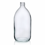 Glass Sirop Bottle (1000ml) - Clear