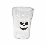 Polycarbonate - Half Pint Glass (284ml/10oz) Halloween Scary Face