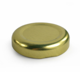 Gold Lid for 200ml Milk/Juice Bottle (38mm Diameter)