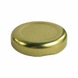 Gold Lid for 250ml Juice/Milk Bottle (38mm Diameter)