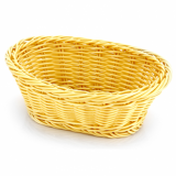Basket - Oval Shape (Poly-Rattan) 19cm x 14cm - Heavy Duty