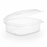Bio Compostable Hinged Lid Deli Container - 12oz/340ml (Pack 50)