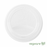 Bio Compostable LIDS 89mm - For 10, 12, 16oz Cups (Pk of 50) WHITE