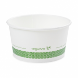 Bio Compostable Ice Cream/Soup Pots 115mm - 12oz (Pack of 25)