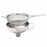 ISI Stainless Steel Funnel with Sieve