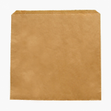 Bio Compostable Kraft Flat Bags (7 x 7 Inch) Pack of 1000