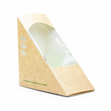 Bio Compostable Kraft Sandwich Wedges (65mm) - Pk of 25