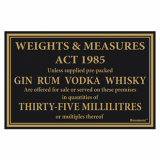 Law Sign - Gin, Rum, Vodka and Whisky (35ml)