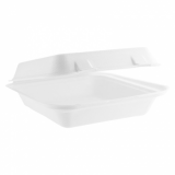 Bio Compostable Clamshell Lunch Box - 8in x 8in (Pack of 50)