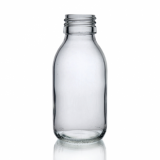 Mini Glass Bottle (100ml) - Clear Glass