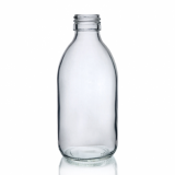 Mini Glass Bottle (200ml) - Clear Glass