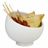 Orion Angled Serving Bowl (15cm) - White Porcelain