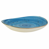 Elements Rustic Shaped Plate (27 x 24cm) - Ocean Mist CLEARANCE