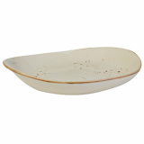 Elements Rustic Shaped Plate (27 x 24cm) - Sandstorm CLEARANCE
