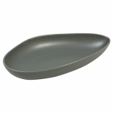 Ston Grey Porcelain - Leaf-Shaped Plate (20cm)