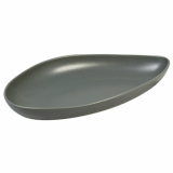 Ston Grey Porcelain - Leaf-Shaped Plate (28cm)