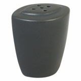 Ston Grey Porcelain - Modern Oval Pepper Shaker (6cm)