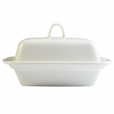 Orion Butter Dish (18cm) - White Porcelain