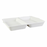 Orion Fish & Chip Box - White Porcelain