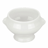 Orion Lion Head Soup Bowl (430ml) - White Porcelain