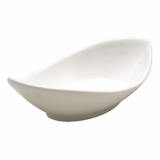 Orion Oval Twist Dish (25cm) - White Porcelain