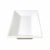 Orion Rectangular Plate (25cm) - White Porcelain